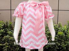 venta al por mayor de algodón de diseño de moda las niñas pequeñas vestido vestido de campesino