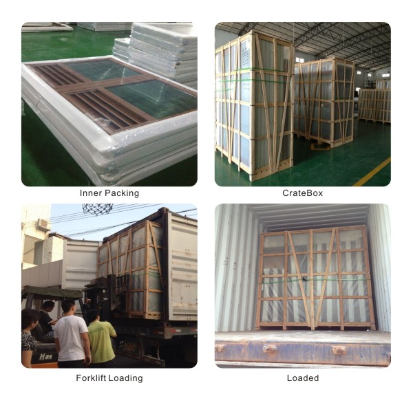 2mm Thermal Insualtion Aluminium Window Tilt Turn Window with Security Stainless Steel Mesh