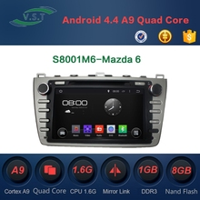 2 Din Android 4.4 Rockchip A9 dual-core Car Dvd With Gps Navigation System for Mazda 6