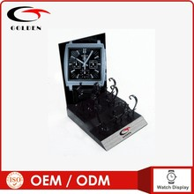 Factory customized metal watch display tray with backboard