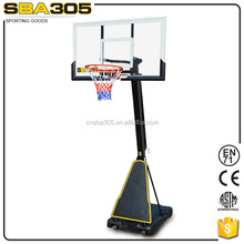 high quality height adjustable hydraulic basketball system