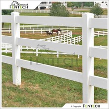3 Rails Post and Rail PVC Farm Fence
