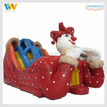 red clown cheap giant adult inflatable super slide