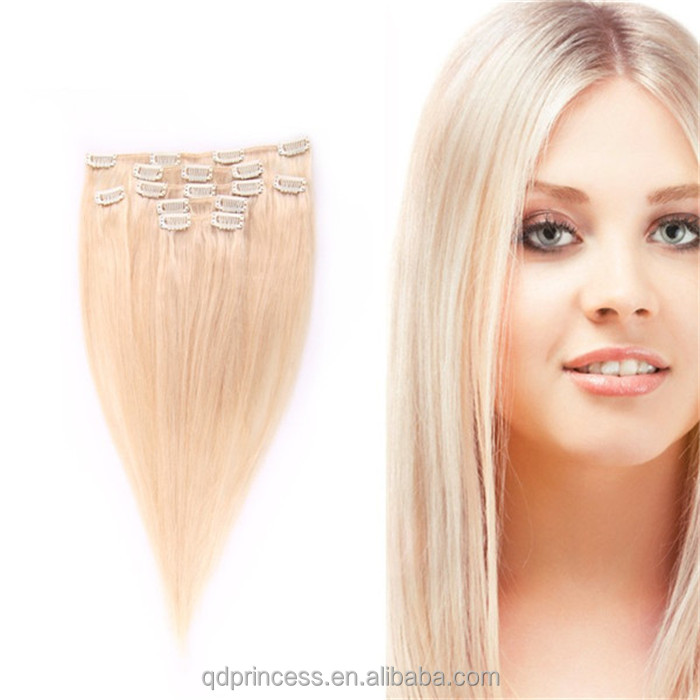Clip In Blonde Hair Extensions Cheap 4