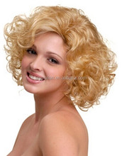 AAAAAA TOP quality Brazilian human hair short curly full lace wigs for white women