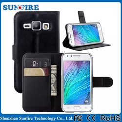 Wallet leather flip case for samsung galaxy j1