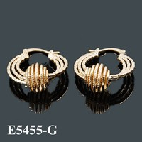 Made In China Fashion Gold Earring Hoop Earrings With Gold Ball
