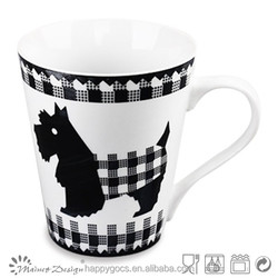 household decal with cute cat or dog mug