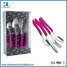 rubber feeling handle cutlery