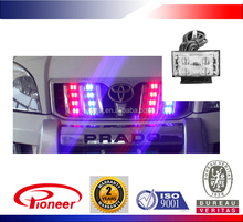 red/blue/green/white 4x8 waterproof visor led strobe light for police motorcycle