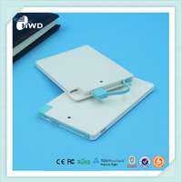 Universal battery charger ultra thin card powerbank portable powerbank 2600mah/credit card power bank