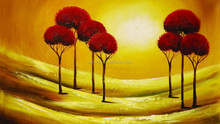 arts and crafts best selling handmade items Canvas Oil Painting trees Abstract Painting sunset oil painting on canvas