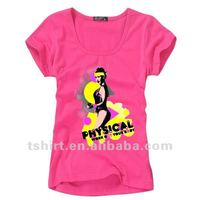 Girl 65 polyester 35 cotton city t shirts 120grams