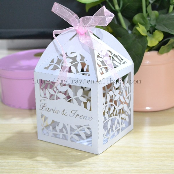 wedding cake boxes,laser cut wedding candy boxes for table center ...