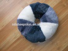 Mejor venta popular moderna de patchwork de piel de oveja hemorroide esteras/alfombrillas