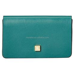 Formal Design Green Brown Black Red Leather Mini Card Case