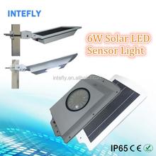 6W 12V Solar Security Led Motion Sensor Light