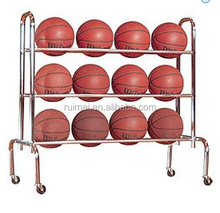 Movable 3 Tiers Metal Outdoor Basketball Stand Rack
