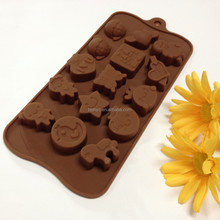 Top Quality Chocolate Ice Cake Dining&Bar Candy&Pastry Head Chocolate cookie cup Silicone cake Molds moulds