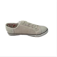 Barato zapato blanco zapatos de lona para mujer con suela zapatilla de deporte de alta calidad