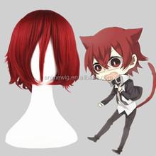 High Quality 35cm Short Straight Code GeAss-Kouzuki Kallen Synthetic Anime Wig Cosplay Costume Hair Wig Party Wig