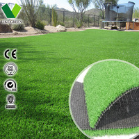 Synthetic Garden Grass With Drainage Holes