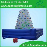Slide Type and PVC,1000D PVC Tarpaulin Material inflatable climbing rock climbing wall