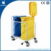BT-SLT008 double bags hospital Dirty Linen Trolley, Solid Linen Trolley, Waste Trollys