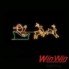 2014 new product 2D Santa Claus Ling deer running slide decorative LED Christmas motif light