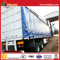 15m 3 axles 30MT fuwa axles trailer parts curtain-side semi-trailer for tractor towing, exported to India and vietnam