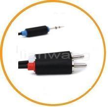 AV leads 3.5-2R plug white transparent cable