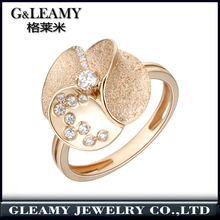 Direct Factory Wholesale Jewelry Custom 925 sterling silver ring rough surface flower rings