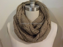 Fashion Women's Accessories - Knitted Infinity Scarf, Thick Warm Winter Scarf