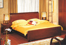 Classic design double wooden bed For luxury hotel or for home bedroom furniture set