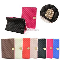 diamond bling case for iPad mini 1 2 3, bling leather case for ipad mini 1 2 3
