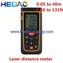 Láser instrumento de medición de distancia rojo y negro telémetro