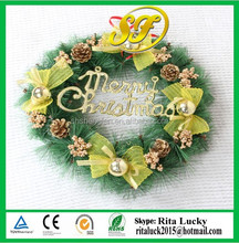 Wholesale Artificial Christmas Ornament wreath Hanging decoration