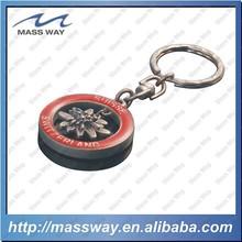 souvenir fashion 3D flower shape custom metal keychain