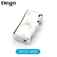 Newest Adt 50watt Temperature Control Mod Big Vapor Electronic Cigarette Mechanical Mod Adt50 Match Subtank Mini Bell Cap