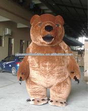 Costume mascotte orso bruno/marrone costumi orso