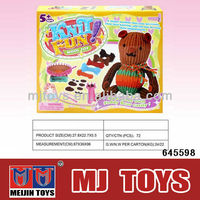 Easy knit wool toy DIY wool bear toy for kids