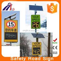 LED lamp solar power Radar speed traffic sign