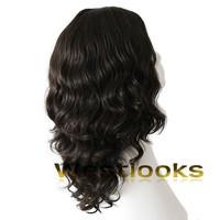 100% Mongolian Permanent Human Virgin Hair Dark Brown Jewish Wigs