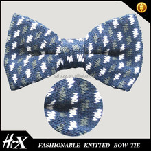 100% polyester knitted bow tie