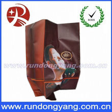 Brown and big plastic coffee packaging bag