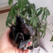 Conjuntos de cristal religiosa bonito smokey cura natural de cristal cluster arte popular cristal cluster uva