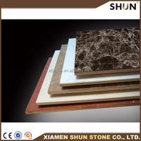 Top sale factory promotional laminated beige compositet marble,composite marble tile