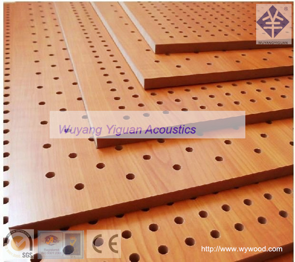 Micro perforated mdf wood texture acoustic eco panels