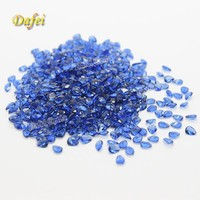 Dark Blue AAA Quality Pear Shaped Synthetic Glass