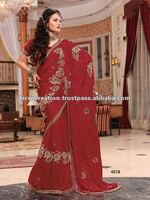 Hand Work Designs Saree